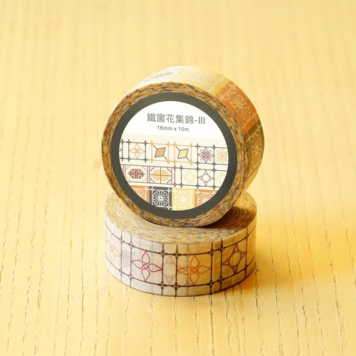 [Old House Yan paper tape] iron window flower collection 3 paper tape