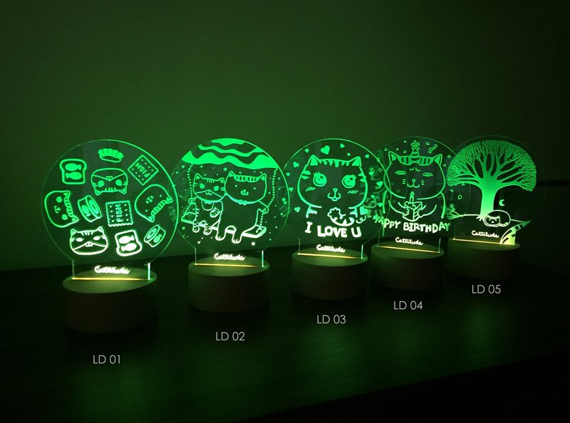 【Cattitude】 LED Lamp night light LD03