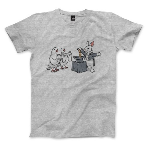 Rabbit's Revenge - Deep Heather Grey - Unisex T-Shirt