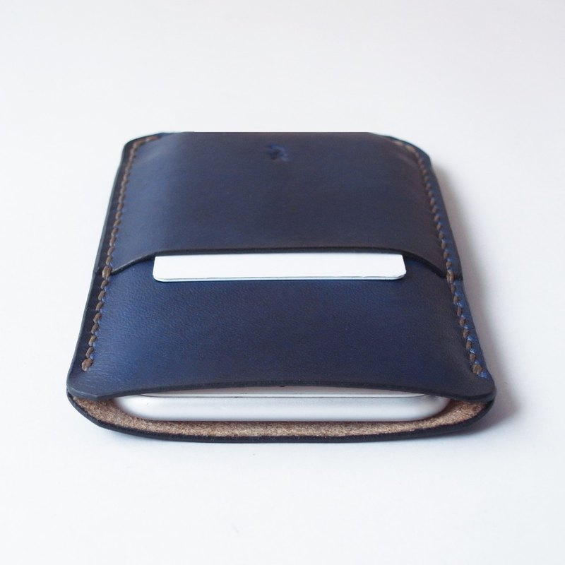 Smartphone Case using Indigo(藍) Dyed Leather 【spot / すぽっと】