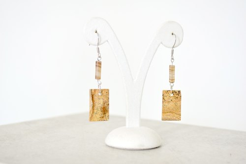 [Etoo] Erasto - Natural Ore Stainless Steel Earrings