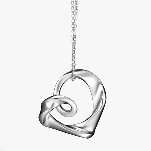 You've never seen a design # P & I Silver handmade jewelry # solid sense - Rose Heart