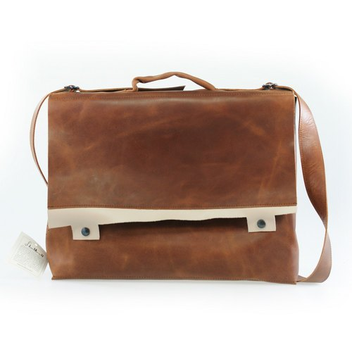 -OUTLET- SAC VACHE- Brown / Cream
