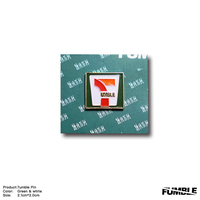 【Fumble】7-umble | Golden Pin | Fast Food Series | Limited Edition | Four Version