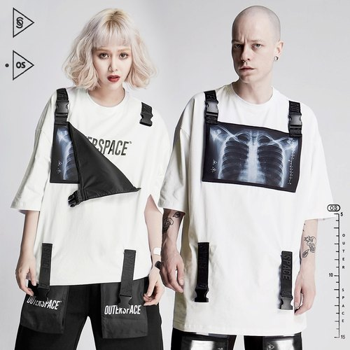 OUTER SPACE X Light Ribbon T (white)