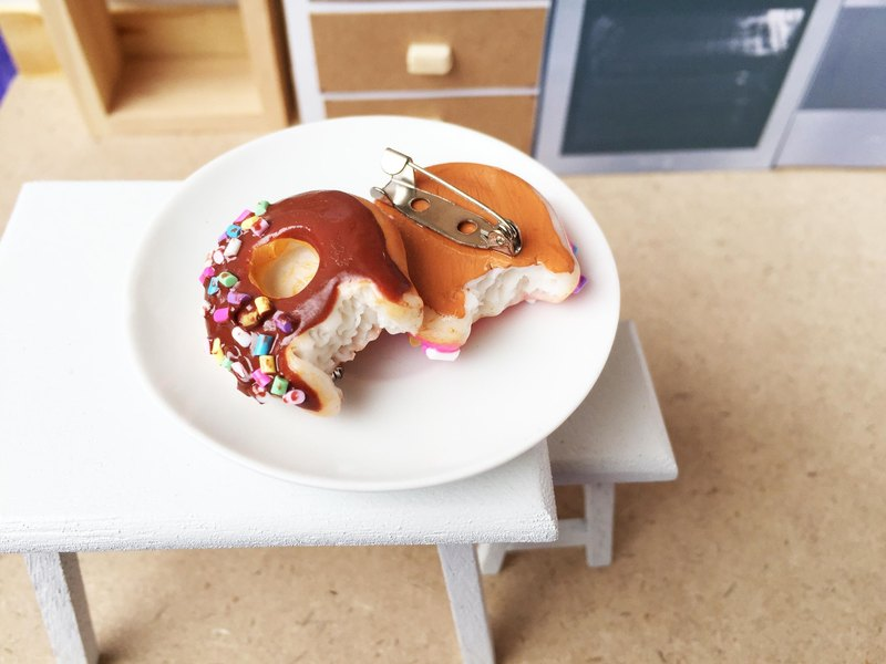 Chocolate Donut Brooch