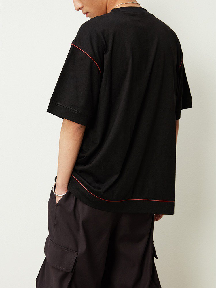 OPICLOTH BRIGHT LINE T-SHIRT  明線撞色機邊短袖