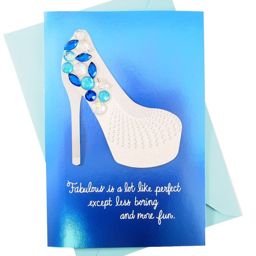 Rhinestone High Heels (Hallmark-Signature Classic Handmade Series Birthday Wishes)
