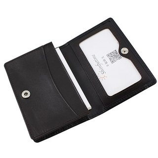 LAPELI │ Mixed color card holder black / deep coffee