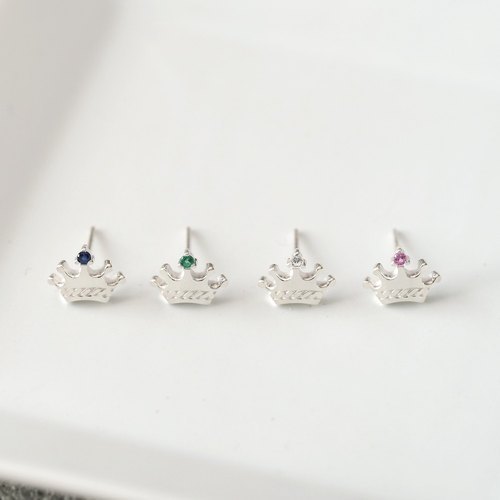 Tiny Crown earrings Silver 925