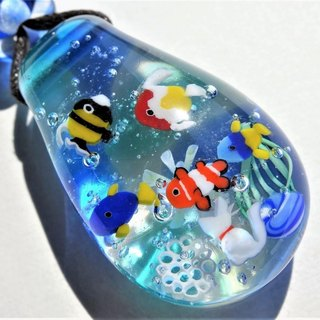 Aquarium pendant glass Tonbon ball jellyfish cat aquarium summer