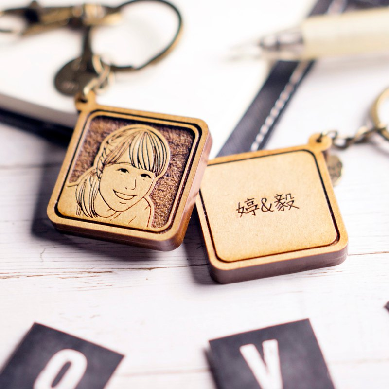 Customized couple key ring Valentine's Day gift Tanabata Chinese Valentine's Day