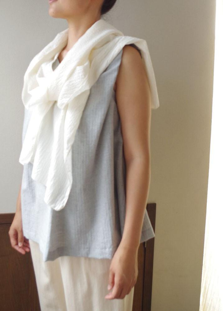 Organic Cotton silk mixed crepe fabric fabric summer scarf