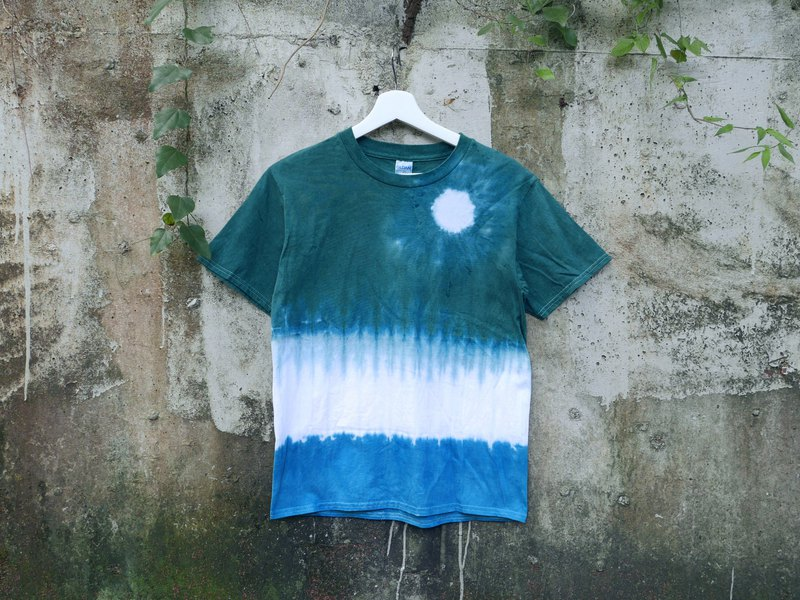 :White Moon: Tie dye/T-shirt/Garment/Custom size/Men/Women