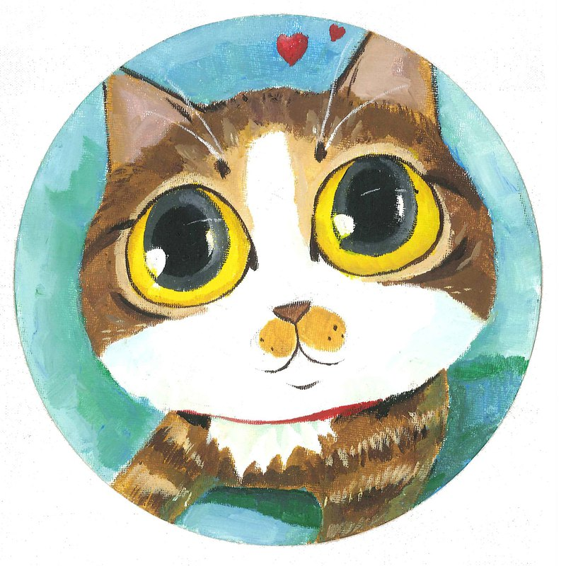 Acrylic pet painting / cat and dog customization