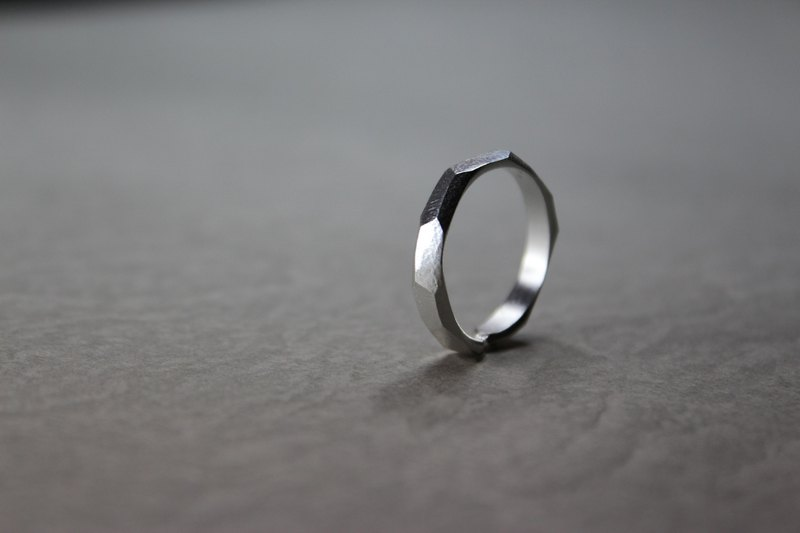 F section 925 sterling silver ring