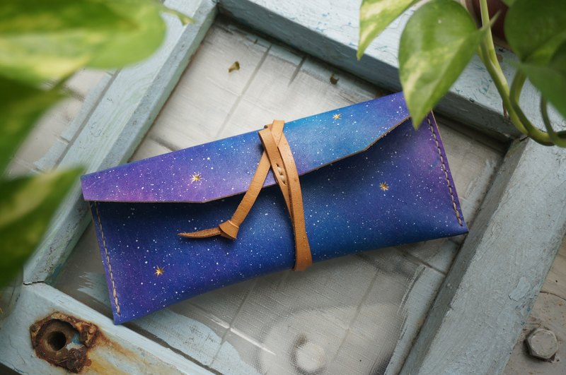 Series of Starry Night  - The Pencil Case, Glasses Case with Clip Rope
