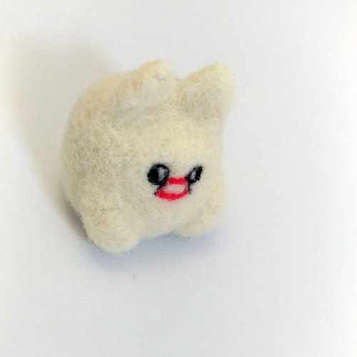 """(❍ mouth ❍ ʋ) dog"": felting doll friends jewelry home companion"