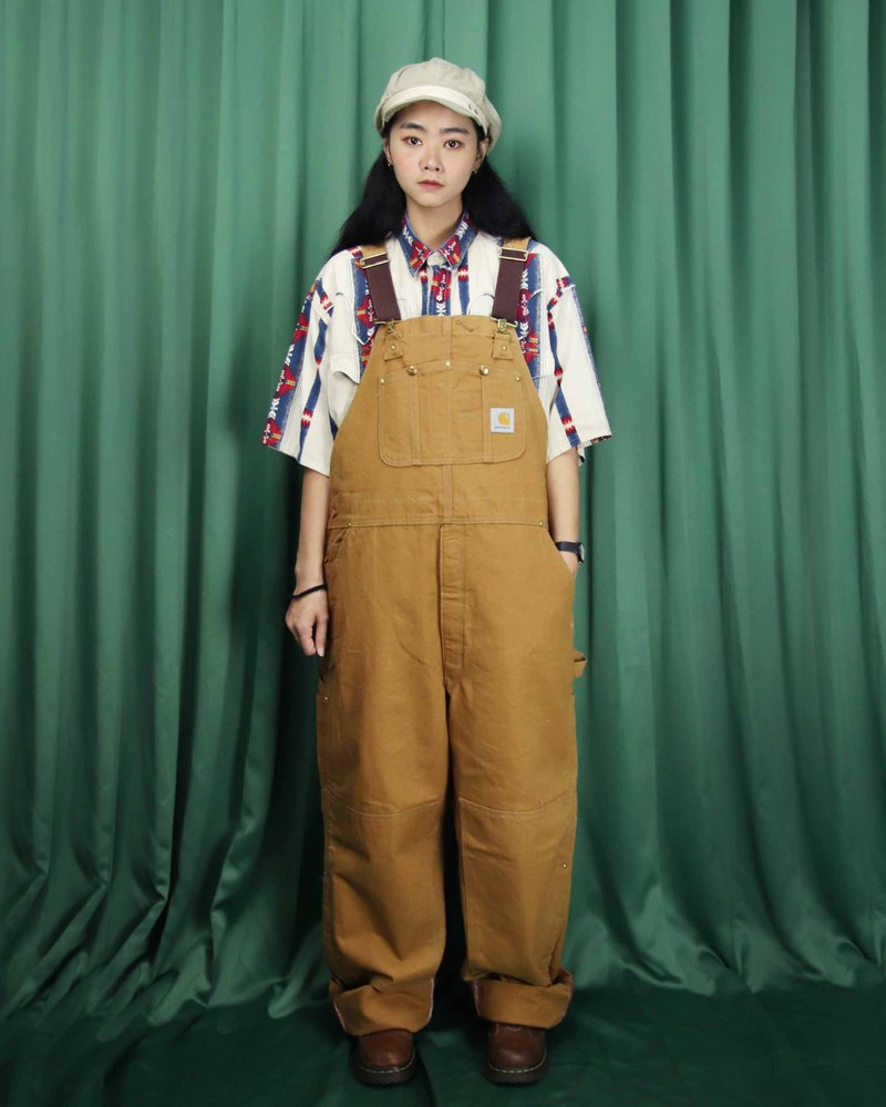 Tsubasa.Y Ancient House 015 Khaki Carhartt suspenders, denim jumpsuit