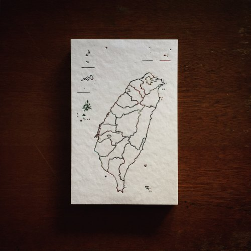 Taiwan map postcards / white card hot rainbow