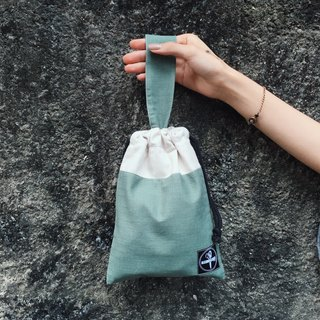 Beam mouth bag / bamboo cotton green
