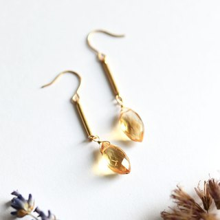 14KGF Citrine Bar earrings earrings November birthstone Citrine earrings Citrine earrings