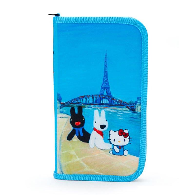 麗莎和卡斯柏 X Hello Kitty-多功能夾/護照套/存摺套 - 同遊巴黎