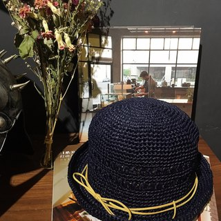 Hm2. Lafite straw hat. Late night blue