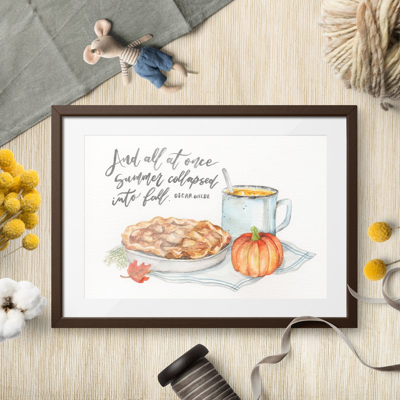 Autumn Vibes Art Print