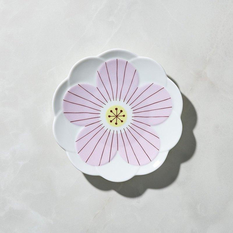 日本晴九谷燒 - 花見淺盤 - 粉