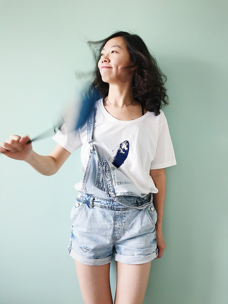 [Fasti years old] hand-printed cotton T-shirt - fish