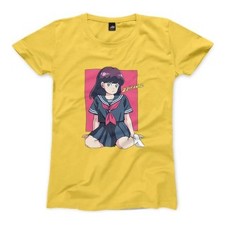 Sailor suit girl - yellow - female version of the T-shirt