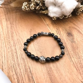 Dark Guardian Obsidian Coarse Anti-villain Guardian Natural Stone Bracelet