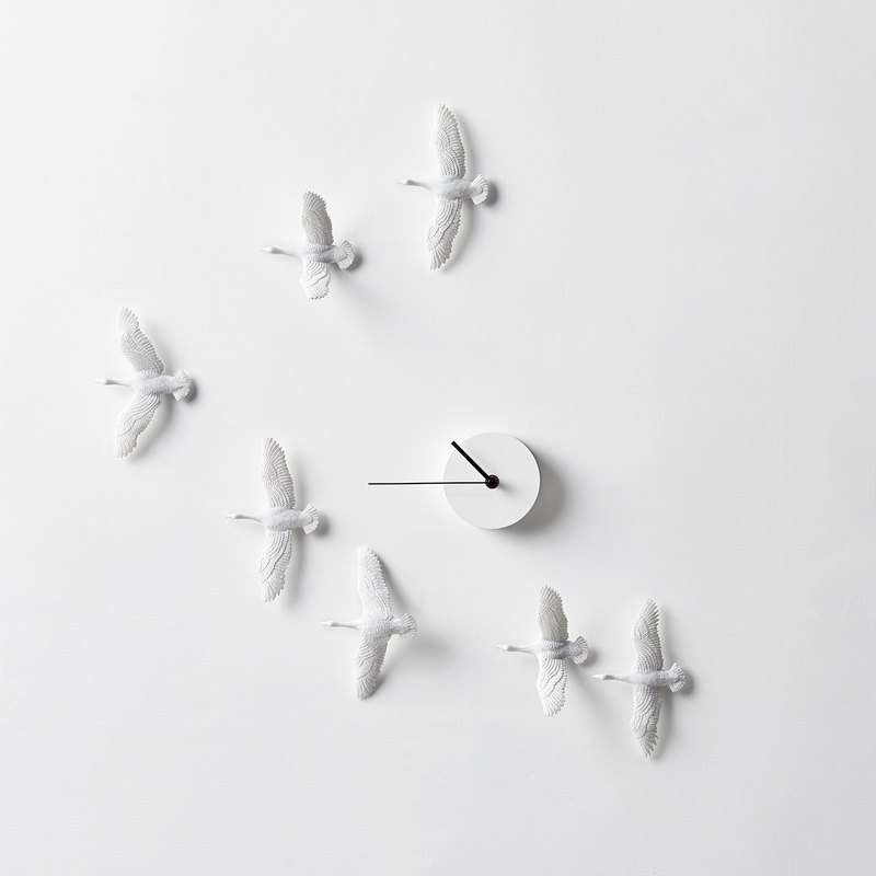 Migratory Bird Clock - V Type / Migrant bird X Clock - V Formation