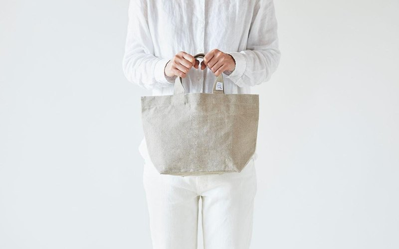 Linen canvas tote bag (S)