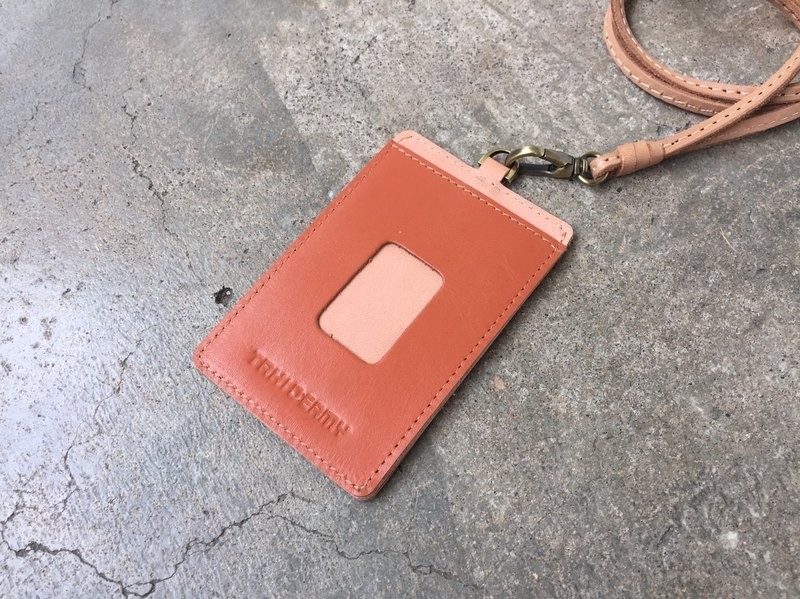 Leather ID Case - Orange