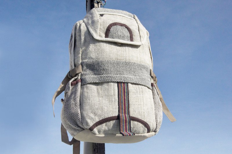 Christmas gift exchange gifts emergency gift limited a piece of cotton stitching design backpack / shoulder bag / mountaineering bag / traveling bag / computer bag - natural natural journey backpack