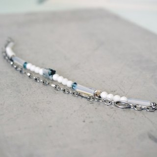 [Paisible [calm]] Placido - natural ore stainless steel bracelet