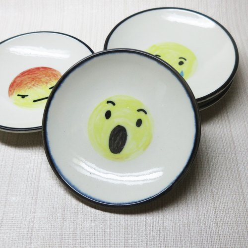 【Painted series】 Emoticons small dish (surprised)
