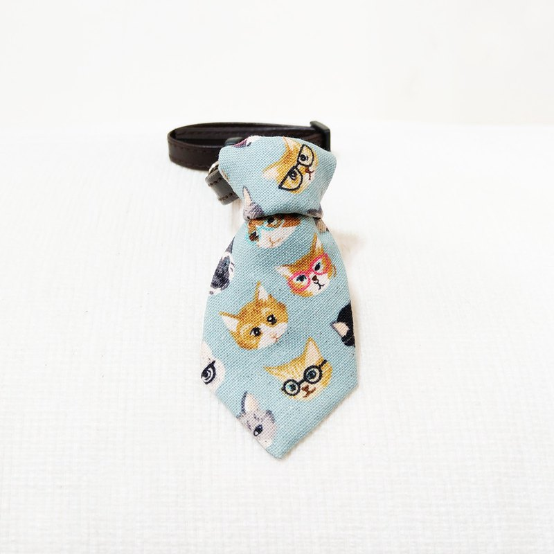 Ella Wang Design Tie Pet Tie Tie Cat Dog Powder Blue