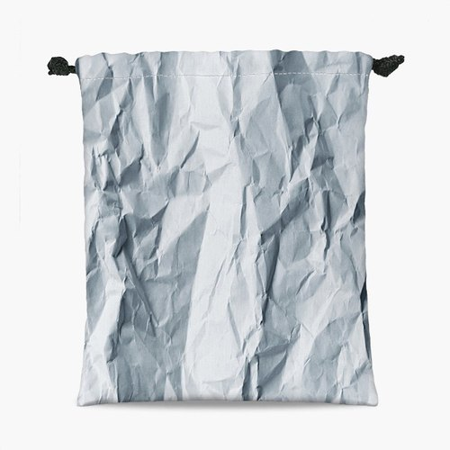 Drawstring Pouch - Wrinkled paper