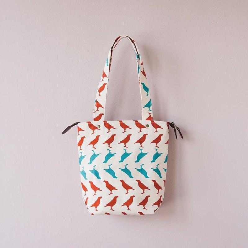 41e4fbd978 Top Zip Canvas Tote Bag   Crested Myna No.5   Old Building Pink - Designer  inBlooom