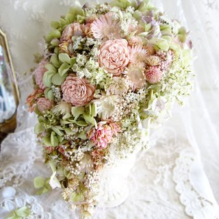 Wedding Floral Series ~ Dry Dripping Pink Rose Bouquets
