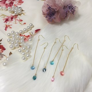 colorful / swarovski  22k plated / earrings