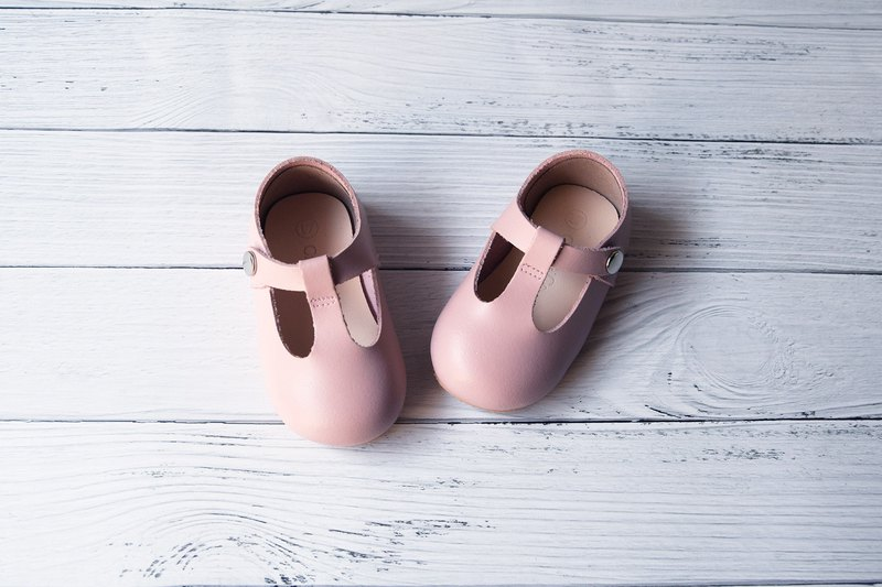 Pastel Pink Toddler Girl Shoes, Baby Girl Shoes, Leather Baby Shoes