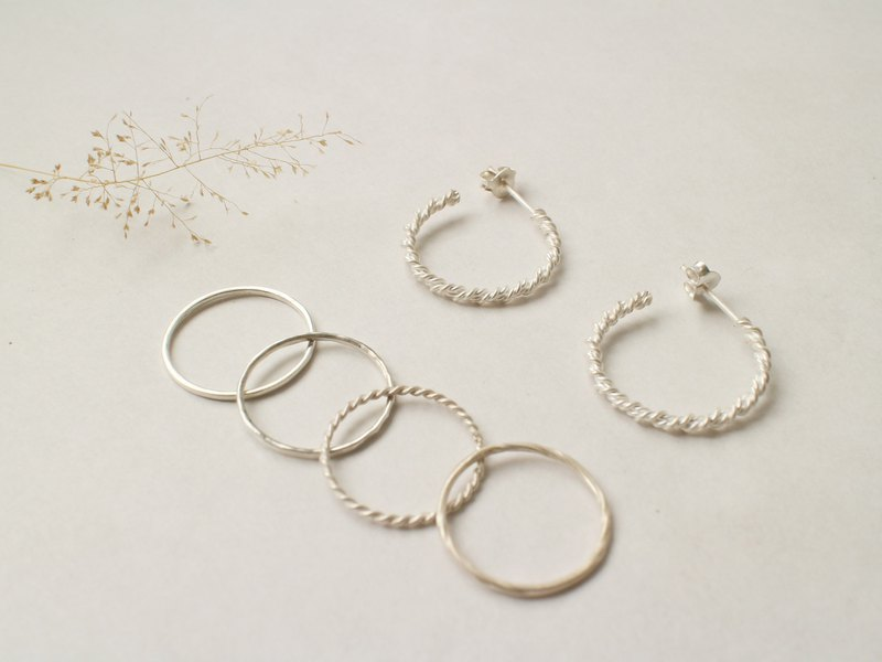 Shanmo Product Blessing Bag Set | Snowflake C-ring Earrings + Sterling Silver Ring Optional