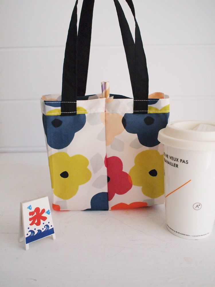 Hairmo environmental protection 2way double enjoy cup drink bag - summer の safflower
