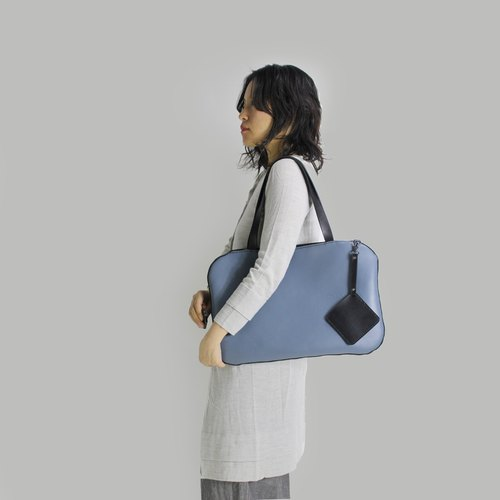 Zemoneni Handmade shoulder carry bag in dark grey color