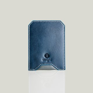 Whiskey Coke - leather business card holder - dark blue