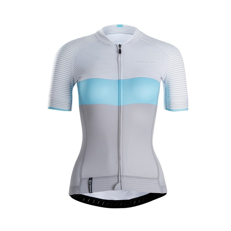 Standard Stripes Jersey - paradise blue - lady